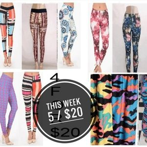 HOT SALE  SOME LEGGINGS MARKED 5/ $20